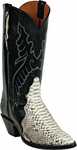 Mens Black Jack Boots Natural Python Triad Custom Boots 604