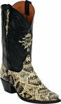 Mens Black Jack Boots Natural RattleSnake Custom Boots 610