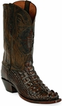 Mens Black Jack Boots Old West Hornback Alligator Custom Boots 111
