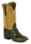 Mens Black Jack Boots Pearl Maddog - Pirarucu Fish (Inverted) - Chocolate 773