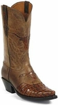 Mens Black Jack Boots Reversed Alligator Tail Burnished Cigar Custom Boots 154