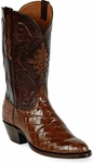 Mens Black Jack Boots Sport Rust Alligator Belly Custom Boots 121