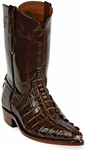 Mens Black Jack Boots Sport Rust Alligator Tail Custom Roper Boots 136