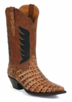 Mens Black Jack Caiman Belly Cognac With Phoenix Inlays Style# 6323