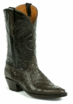 Mens Black Jack Full Quill Ostrich Nicotine Custom Boots #963NIC