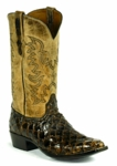Mens Black Jack Pirarucu Fish - Chocolate Manta Custom Boots 727