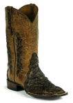 Mens Black Jack Pirarucu Fish - Matte Cigar Manta Custom Boots 726