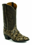 Mens Black Jack Pirarucu Fish - Mink Custom Boots 725