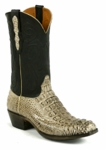 Mens BlackJack Boots Alligator Hornback Burnished Oyster Custom Boots 114
