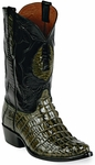 Mens BlackJack Boots Swamp Green Alligator Tail Custom Boots 146