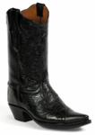 *NEW* Black Jack Hand-Tooled Black / Goat Custom Boots HT-70