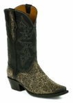 *NEW* Black Jack Handtooled Vintage Black/Brown Custom Boots HT-304