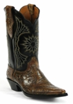 Black Jack Men's Handtooled Antiqued Light Brown Custom Boots HTP-207