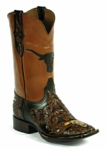 Black Jack Men's Handtooled Longhorn Chocolate & Natural Mahogany HT-1402