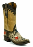 Black Jack Men's Handtooled Poker Suits Brown-Natural Maddog Custom Boot HT-1410