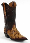 Black Jack Men's Handtooled Red & Natural Custom Boots HTP-208