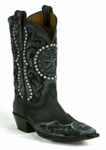 Black Jack Men's Handtooled Vintage Star- Black Maddog Custom Boot HT-1411