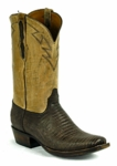 Black Jack Men's Sanded Lizard-Sport Rust Custom Boots 8272