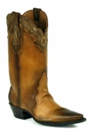*NEW* Black Jack Triad Cut w/Plain Tops and Tooled Collar Custom Boots HTR-258