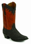 Ladies Black Jack Boots Black Sueded Python Custom Boots 633