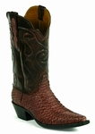 Ladies Black Jack Boots Sueded Python - Burgundy Custom Boots 634