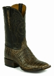 Ladies Black Jack Caiman Belly - Chocolate Maddog Custom Boots 7119