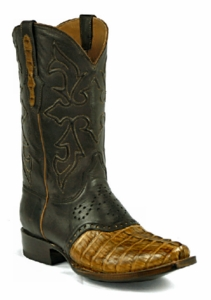 *NEW* Ladies Black Jack Caiman Tail Burnished Pull-Up Cognac Custom Boots 719