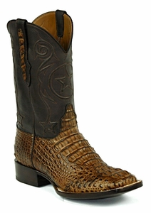 *NEW* Ladies Black Jack Hornback Caiman - Glossy Cigar Custom Boots 713