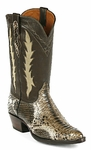 *NEW* Ladies Black Jack Python Snake Brown Dyed Custom Boots 623