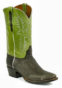 *NEW* Ladies Black Jack Shark - Sanded Chocolate Custom Boots 915
