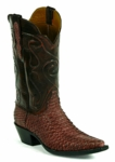 Mens Black Jack Boots Sueded Python - Burgundy Custom Boots 634