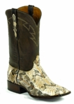 Mens Black Jack Cainbreak Rattlesnake - Natural Custom Boots 671