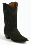 *NEW* Mens Black Jack Elephant - Black Sueded Custom Boots 814