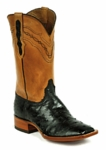 *NEW* Mens Black Jack Full Quill Ostrich - Black Custom Boots 971