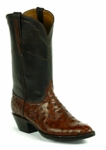 Mens Black Jack Full Quill Ostrich - Burnt Almond Custom Boots 969