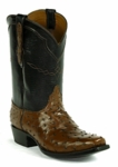 Mens Black Jack Full Quill Ostrich - Cigar Custom Boots 969