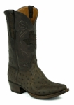 *NEW* Mens Black Jack Full Quill Ostrich - Mohave Kango Tobac Custom Boots 977