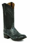 *NEW* Mens Black Jack Full Quill Ostrich - Rio Grand Black Custom Boots 971