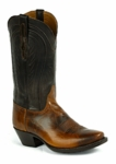 *NEW* Mens Black Jack Tan Buffalo Shoulder Custom Boots 489