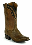 Women's Black Jack Boots Caiman Belly- Tobacco Custom Boots 7152