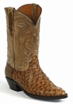 Women's Black Jack Full Quill Ostrich Burnished Cigar Custom Boots #963CIG