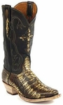 Womens Black Jack Boots Antique Brown Caimen Belly Custom Boots 240