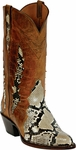 Womens Black Jack Boots Belly Cut Natural Python Triad Custom Boot 603