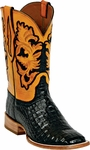 Womens Black Jack Boots Black Caiman Belly Custom Boots HT-90