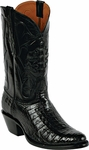 Womens Black Jack Boots Black Caiman Crocodile Belly Custom Boots 247
