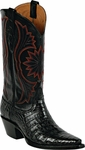 Womens Black Jack Boots Black Caiman Crocodile Belly Custom Boots 251