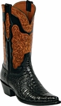 Womens Black Jack Boots Black Caimen Belly Custom Boots HT-91