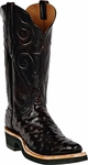 Womens Black Jack Boots Black Cherry Full Quill Ostrich Custom Boots 223