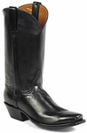 Womens Black Jack Boots Black Florence Buffalo Leather Custom Boots 466