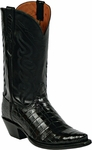 Womens Black Jack Boots Black Nile Crocodile Belly Custom Boots 840